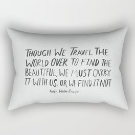 Ralph Waldo Emerson: Beautiful Rectangular Pillow
