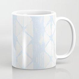 Simply Braided Chevron Sky Blue on Lunar Gray Coffee Mug