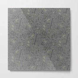 Inventory in Grey Metal Print