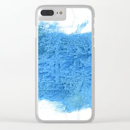 Blue Jeans abstract watercolor Clear iPhone Case