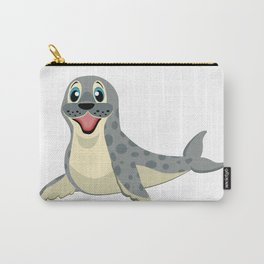 Smiling Baby Seal Carry-All Pouch