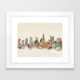 columbus ohio  Framed Art Print