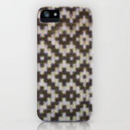 Halftone Weave Pattern Black White iPhone Case