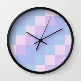 Lilac Squares Wall Clock