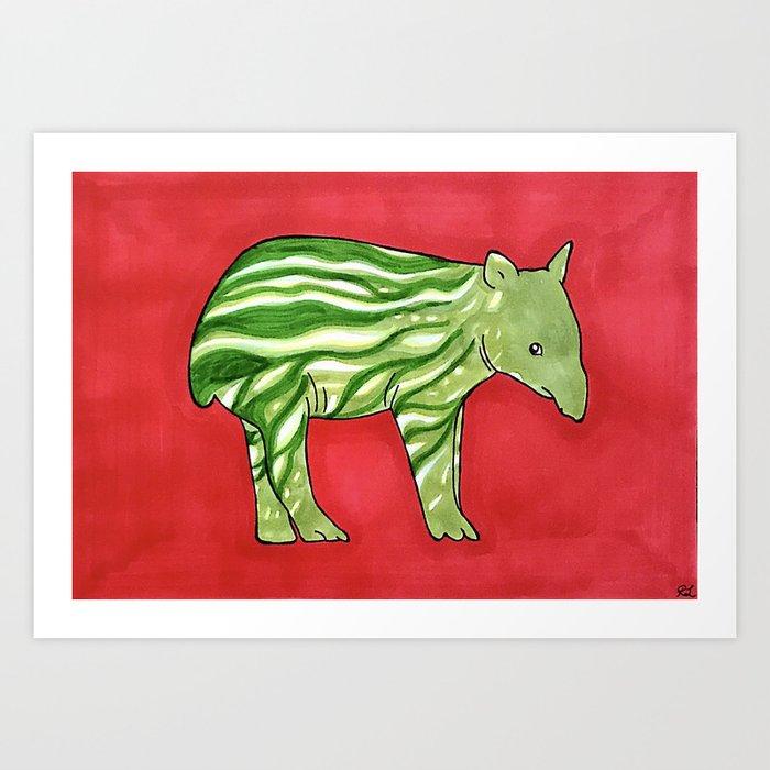 Baby Tapir-melon Kunstdrucke