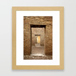 Chaco Canyon, March 2007 Framed Art Print