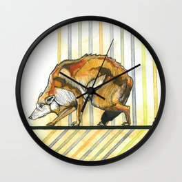 AZTEC Wolf Wall Clock
