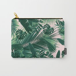 Jungle Leaves Siesta #1 #tropical #decor #art #society6 Carry-All Pouch