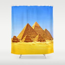 The Pyramids At Giza Shower Curtain
