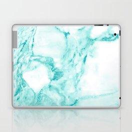 Teal Mermaid Glitter Marble Laptop & iPad Skin
