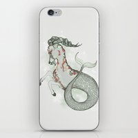 capricorn iPhone & iPod Skins featuring Capricorn by Vibeke Koehler