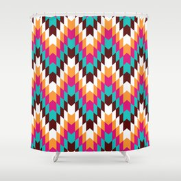 Tribal Chevron II Shower Curtain