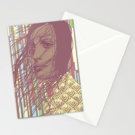 MYSTERY GIRL Stationery Cards