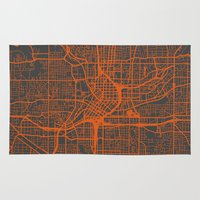atlanta Area & Throw Rugs featuring Atlanta map by Map Map Maps