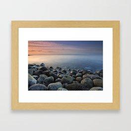 Volcanic ocean at sunrise. Santiago Beach. La Gomera Island Framed Art Print