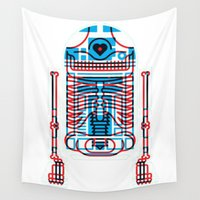 r2d2 Wall Tapestries featuring R2D2 by trevacristina