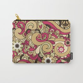 Vintage Hippie Swirl Pattern Carry-All Pouch