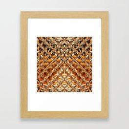 Mirrored Copper Metallic Urban Industrial Texture Framed Art Print