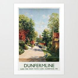 Dunfermline Vintage Travel Poster Art Print
