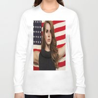 american Long Sleeve T-shirts featuring American by Michelle Rosario