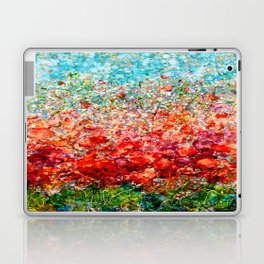 Field Of Spring Poppies Panorama Laptop & iPad Skin