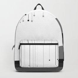 Falling Stars White Backpack