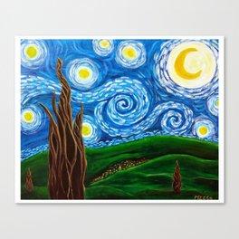Funky Starry Night Canvas Print