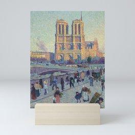 "Maximilien Luce ""The Quai Saint-Michel and Notre-Dame"" Mini Art Print"