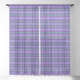 Moroccan Purple Sheer Curtain