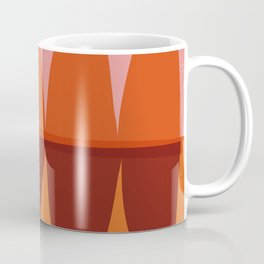Orange and Pink Eliptical Coffee Mug