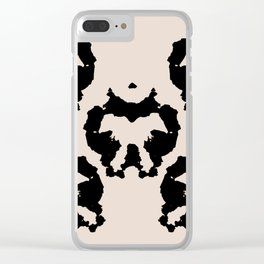 Rorschach inkblot Clear iPhone Case