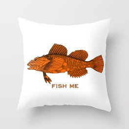 Fish Me Throw Pillow