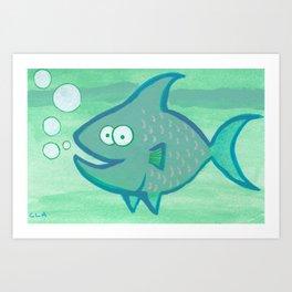 Happy Fish!!!! Art Print