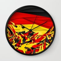 germany Wall Clocks featuring Germany by Danny Ivan