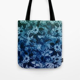 Blossoming flowers in blue Tote Bag