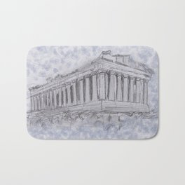 Illustartion of the Parthenon Bath Mat