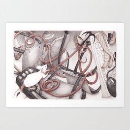 Mice and mess Art Print