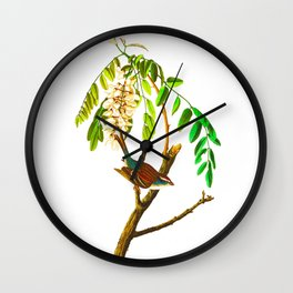 Chipping sparrow John James Audubon Vintage Scientific Bird illustration Wall Clock