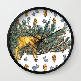 Red Dog and Sage in Lamar Valley Wall Clock