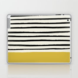 Mustard Yellow & Stripes Laptop & iPad Skin