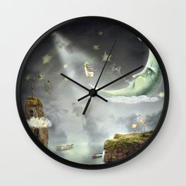 Night. Time of miracles and magic Wall Clock