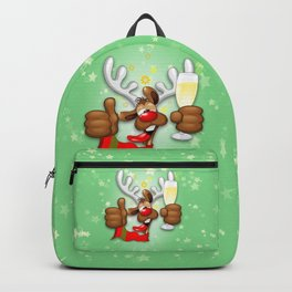 Reindeer Drunk Funny Christmas Character Backpack