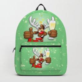 Reindeer Drunk Funny Christmas Character Backpack