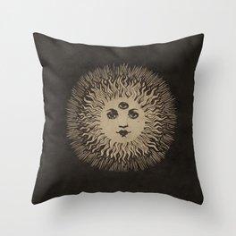 Three Eyed Sun Throw Pillow
