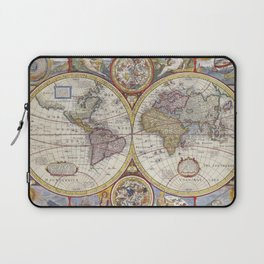 Vintage Map with Stars Laptop Sleeve