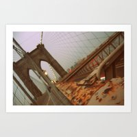 brooklyn bridge Art Prints featuring Brooklyn Bridge  by S|Tarah