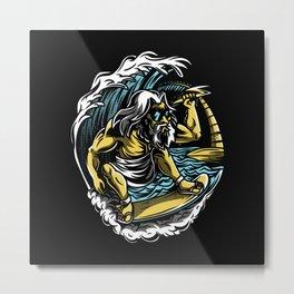 Cool surfer motif Metal Print