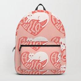 HELLO_CAT_LOVE_HEART_POP_ART_Minimalism_088V Backpack