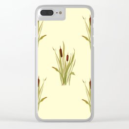 summer cattails Clear iPhone Case