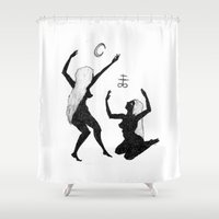 coven Shower Curtains featuring Shadow Dancers by Peczulis